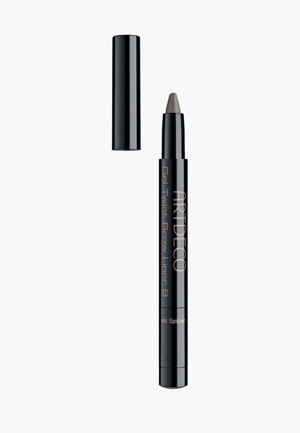 женский карандаш для бровей artdeco, серый