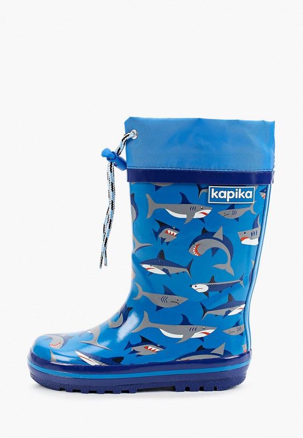 резиновые сапоги kapika для мальчика, синие