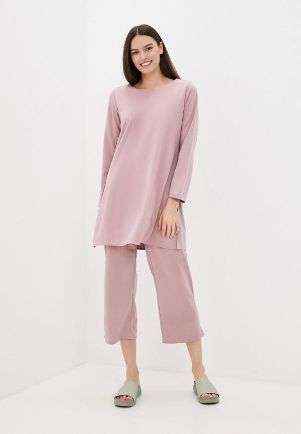 женский костюм pink summer, розовый