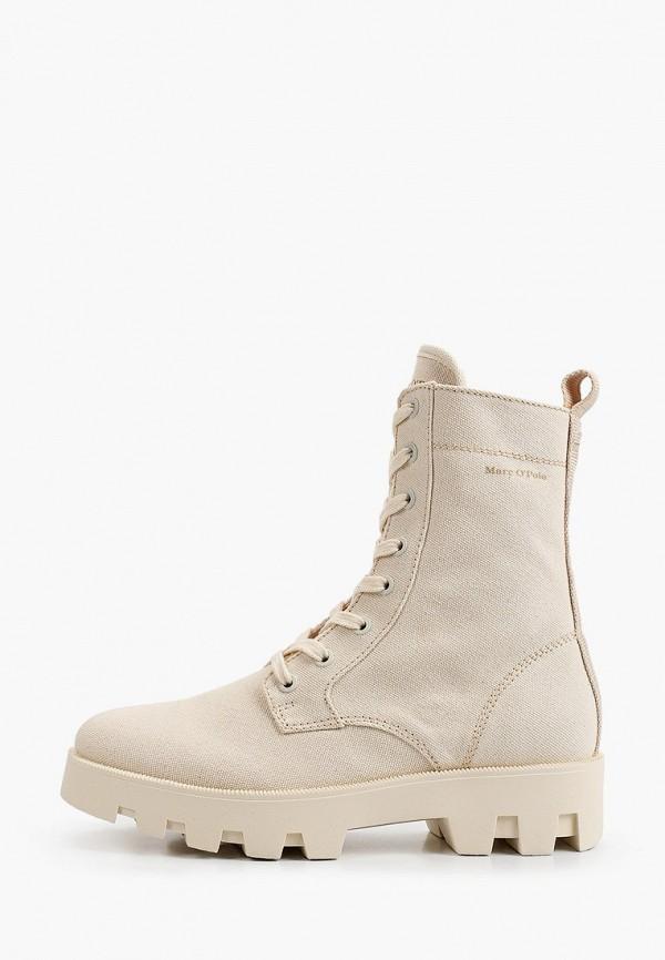 женские высокие ботинки marc o'polo, бежевые