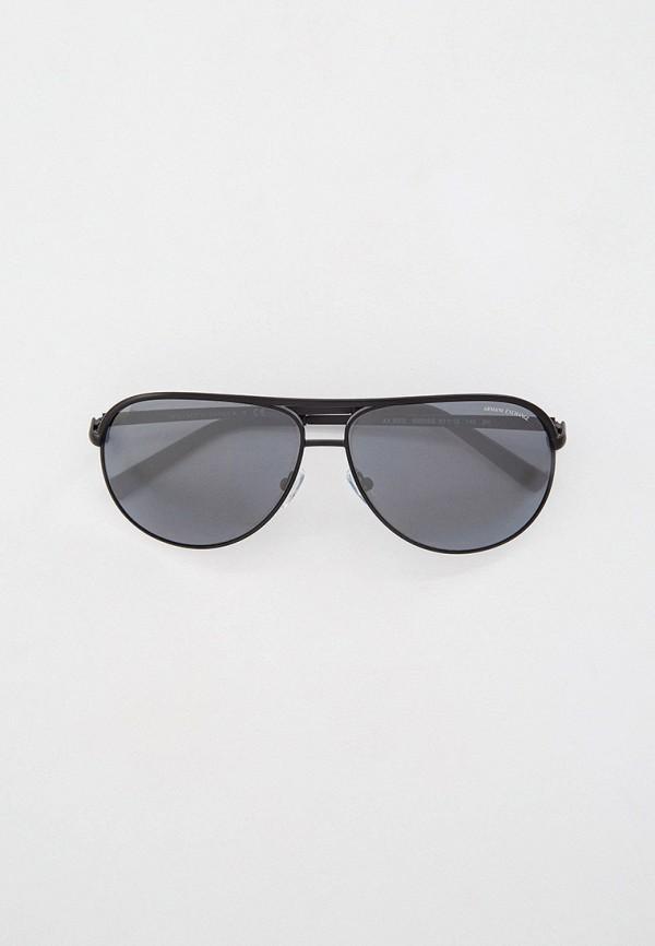 женские авиаторы солнцезащитные очки armani exchange, черные