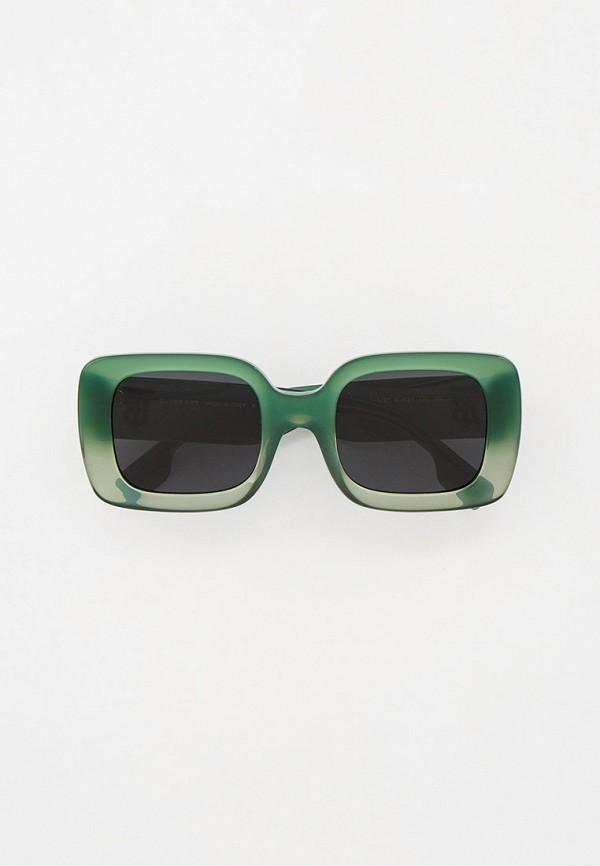 женские квадратные солнцезащитные очки burberry, зеленые