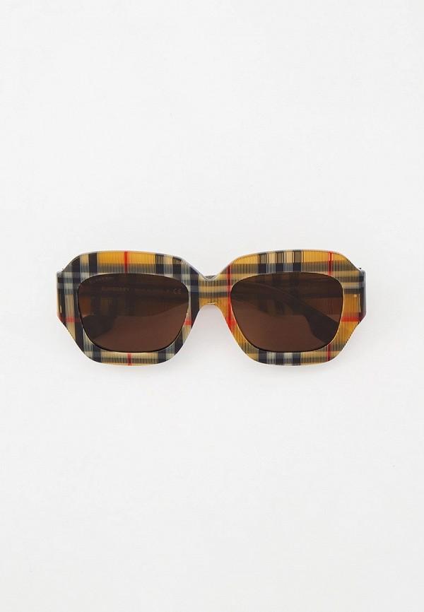 женские квадратные солнцезащитные очки burberry, разноцветные