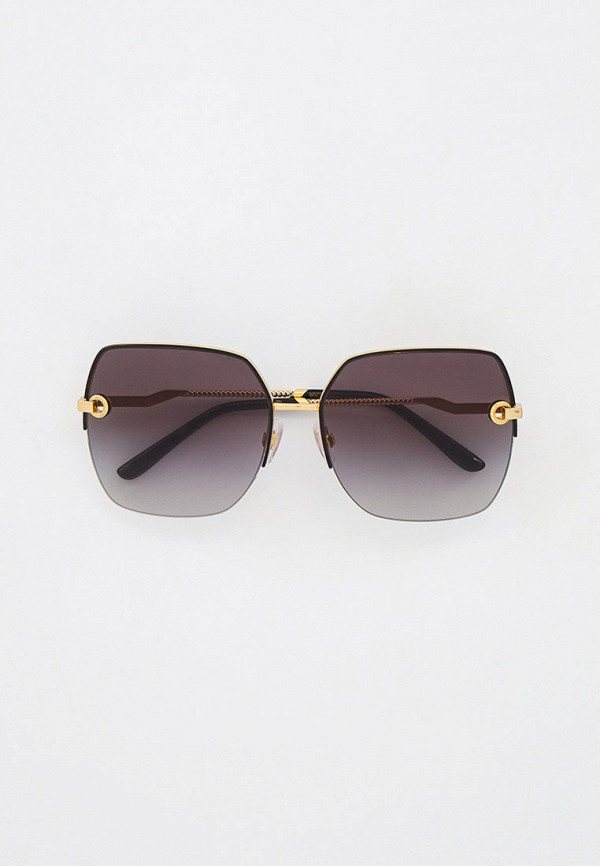 женские квадратные солнцезащитные очки dolce & gabbana, золотые
