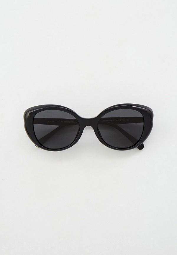 женские круглые солнцезащитные очки coach, черные