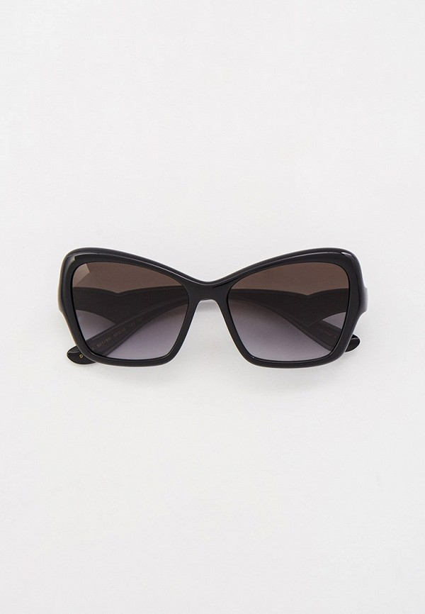женские солнцезащитные очки кошачьи глаза dolce & gabbana, черные