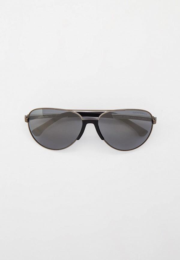 мужские авиаторы солнцезащитные очки emporio armani, серые
