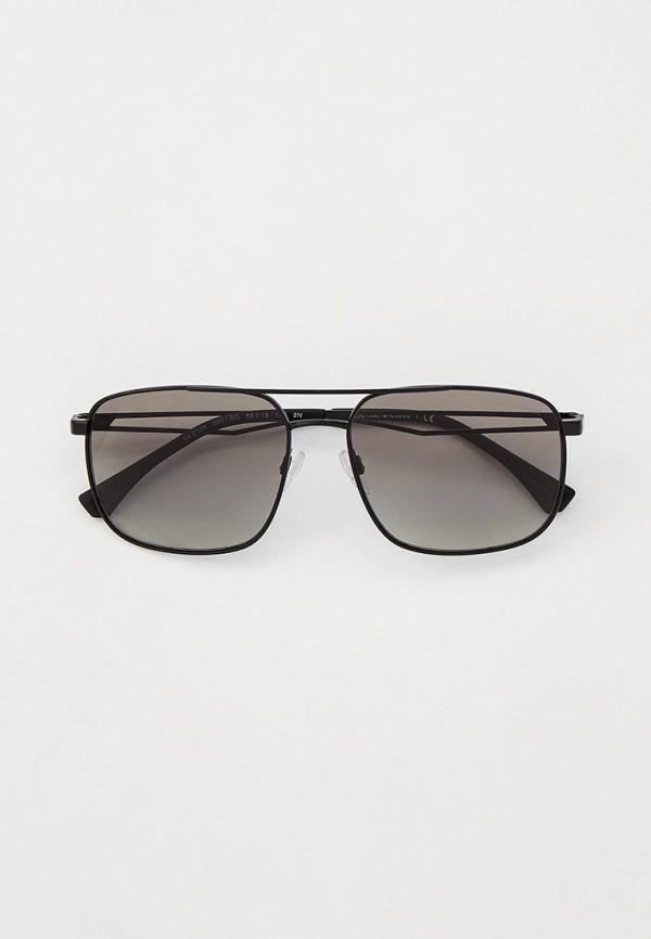 мужские квадратные солнцезащитные очки emporio armani, серые