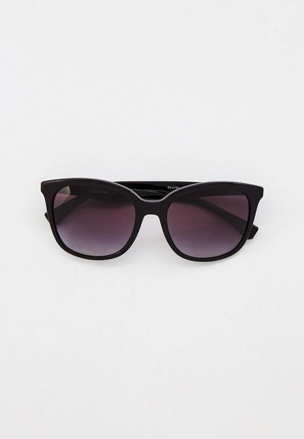 женские квадратные солнцезащитные очки emporio armani, черные