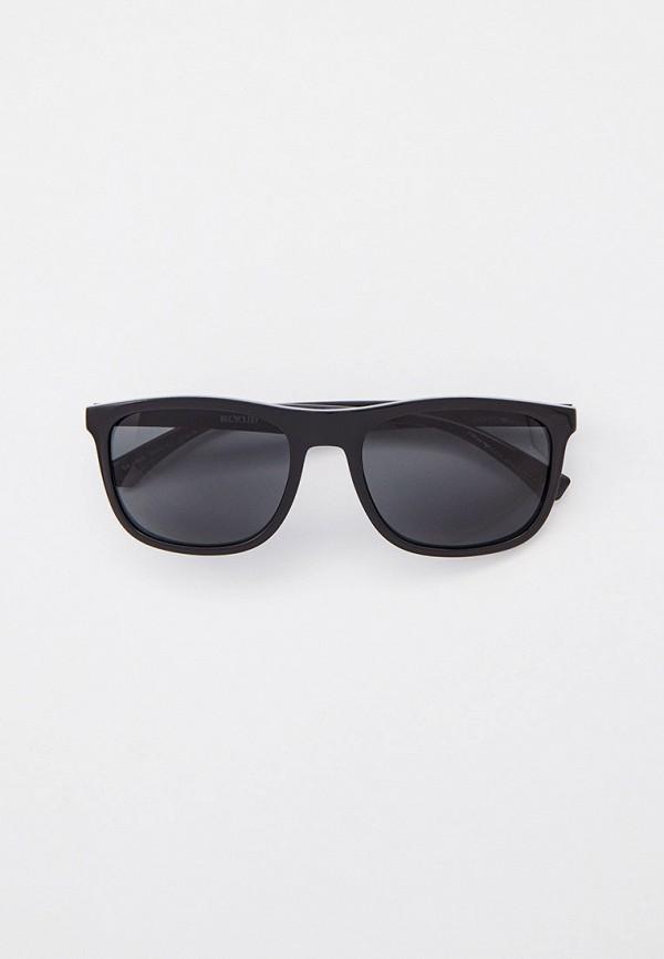мужские квадратные солнцезащитные очки emporio armani, черные