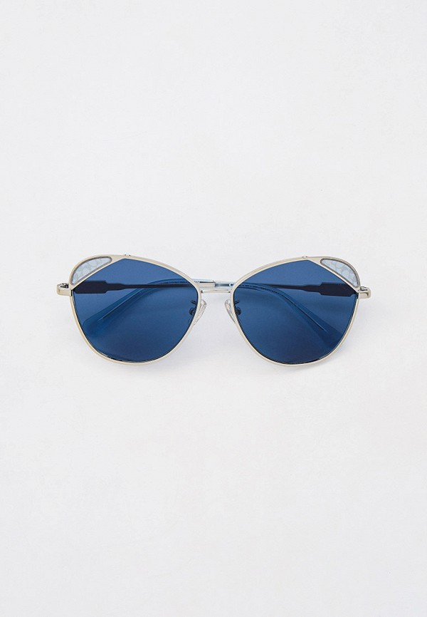 женские солнцезащитные очки кошачьи глаза coach, серебряные