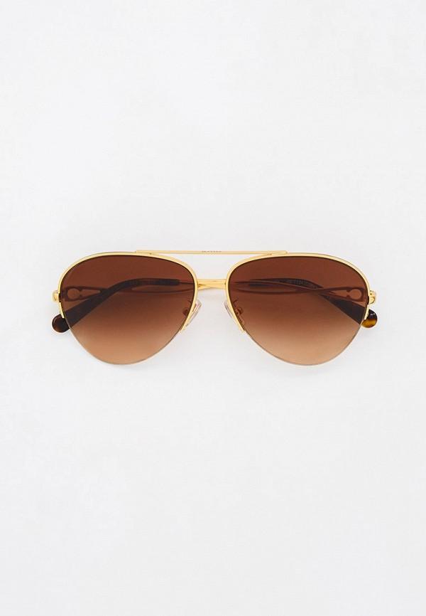 женские авиаторы солнцезащитные очки coach, золотые