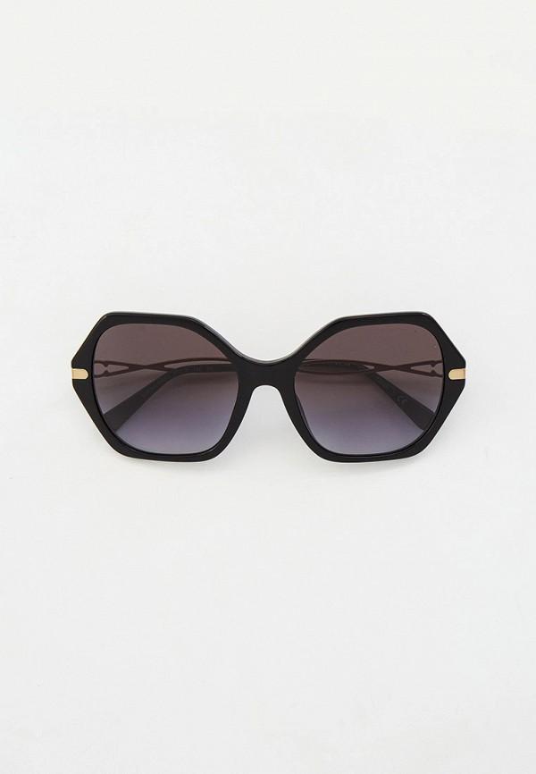 женские квадратные солнцезащитные очки coach, черные