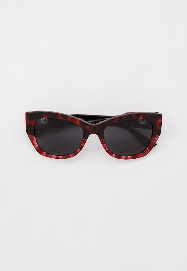 женские солнцезащитные очки кошачьи глаза michael kors, бордовые