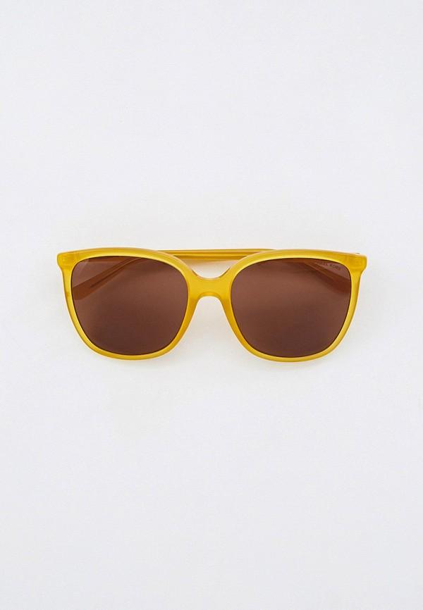 женские квадратные солнцезащитные очки michael kors, желтые