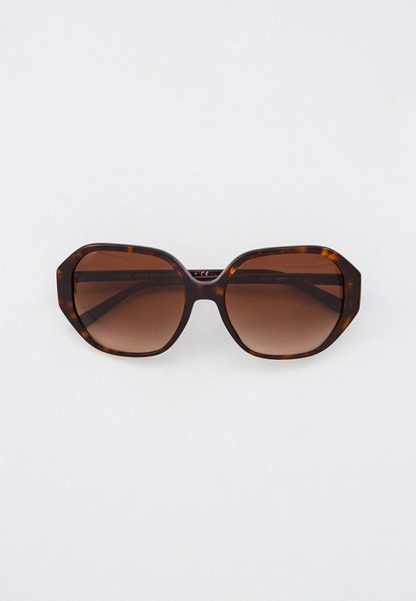 женские квадратные солнцезащитные очки michael kors, коричневые
