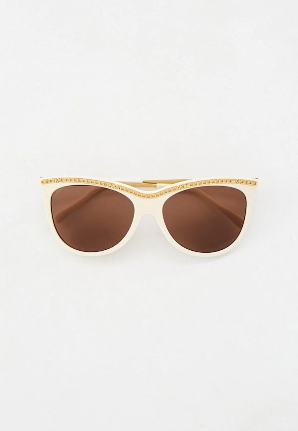 женские круглые солнцезащитные очки michael kors, белые