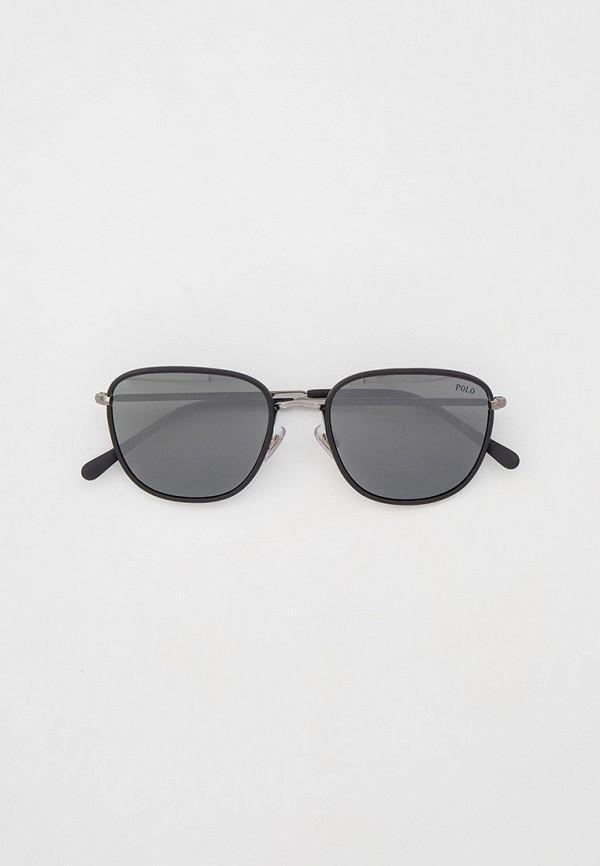 мужские круглые солнцезащитные очки polo ralph lauren, черные