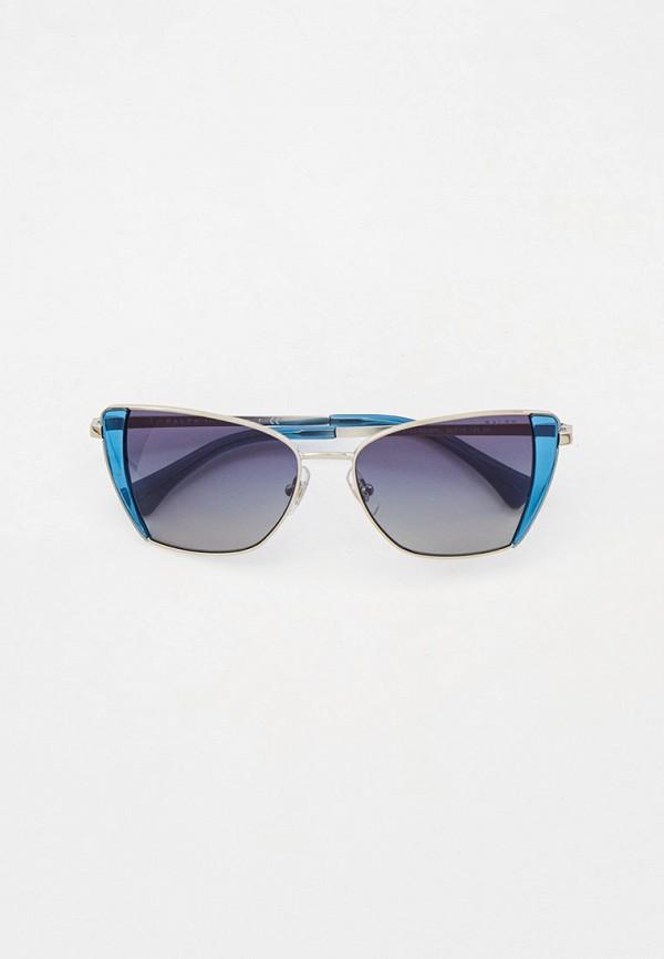женские квадратные солнцезащитные очки ralph ralph lauren, серебряные