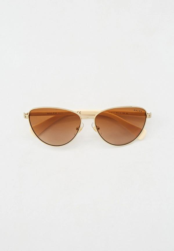 женские солнцезащитные очки кошачьи глаза ralph ralph lauren, золотые
