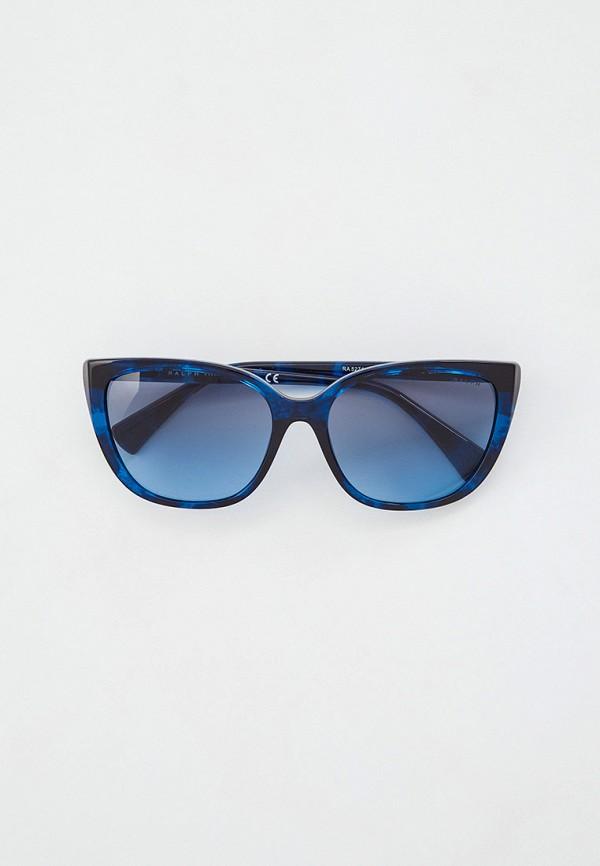 женские квадратные солнцезащитные очки ralph ralph lauren, синие