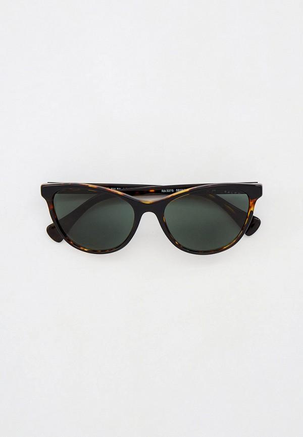 женские круглые солнцезащитные очки ralph ralph lauren, коричневые