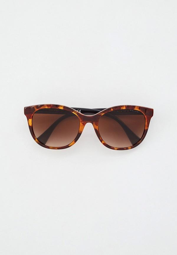 женские квадратные солнцезащитные очки ralph ralph lauren, коричневые