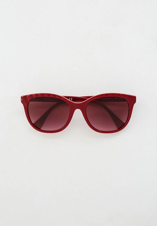 женские квадратные солнцезащитные очки ralph ralph lauren, бордовые