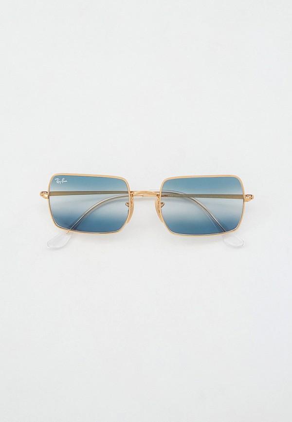 женские квадратные солнцезащитные очки ray ban, зеленые