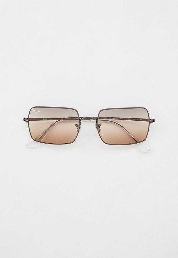 женские квадратные солнцезащитные очки ray ban, серые