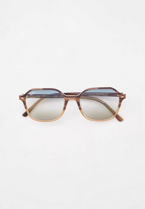 женские квадратные солнцезащитные очки ray ban, хаки
