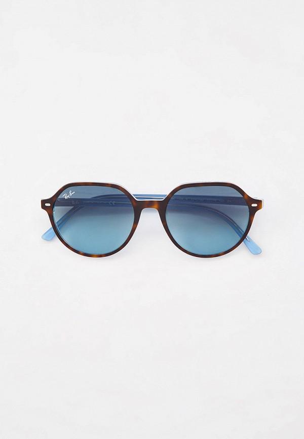 женские круглые солнцезащитные очки ray ban, коричневые