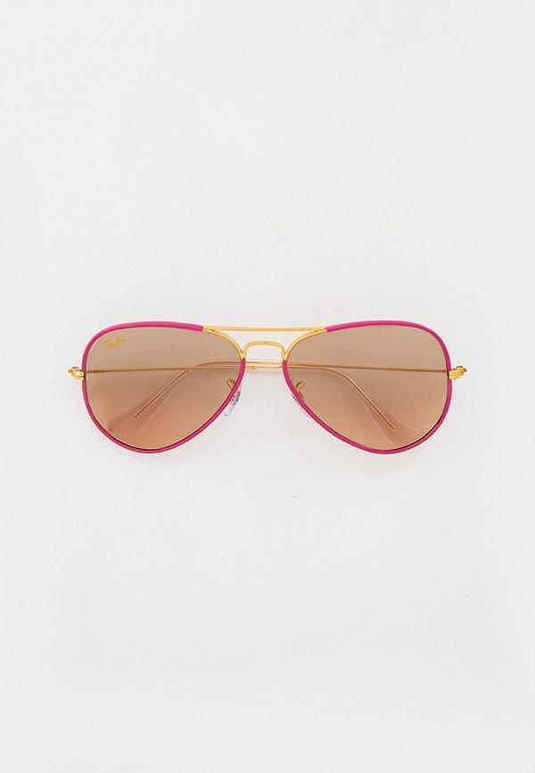 женские авиаторы солнцезащитные очки ray ban, розовые