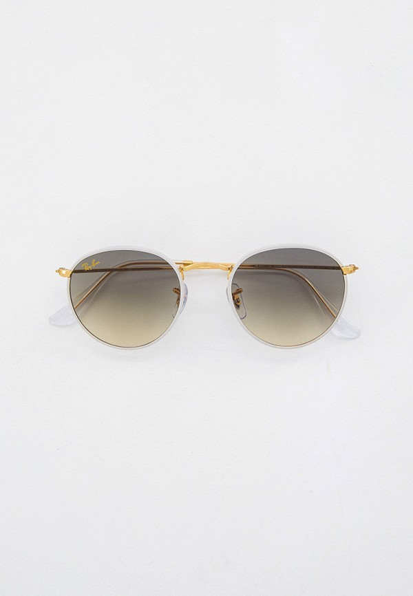женские круглые солнцезащитные очки ray ban, серые