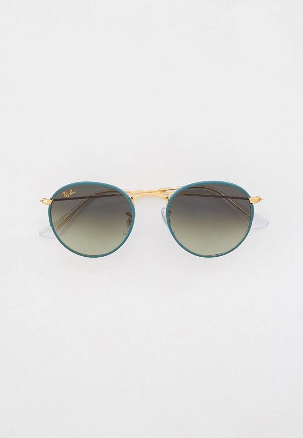 женские круглые солнцезащитные очки ray ban, зеленые