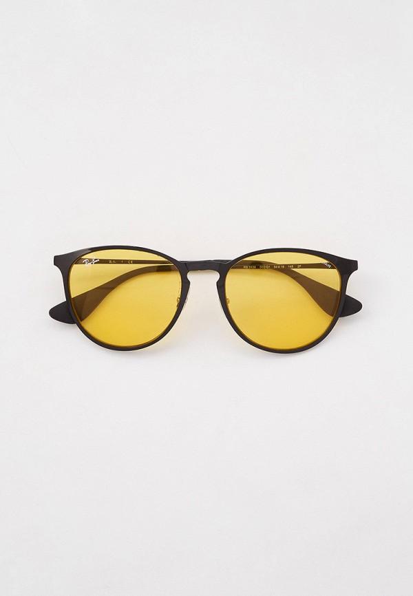 женские круглые солнцезащитные очки ray ban, черные