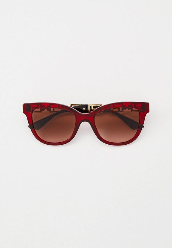женские солнцезащитные очки кошачьи глаза versace, красные