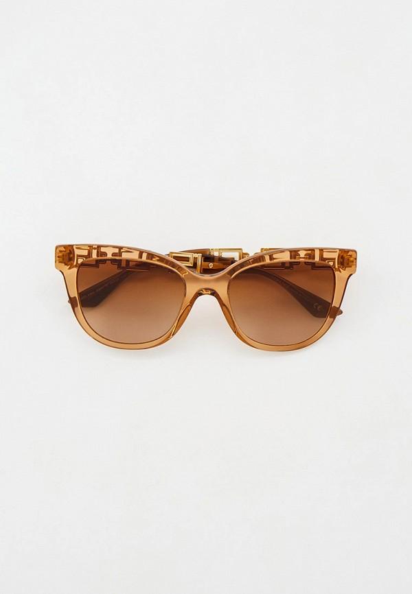 женские квадратные солнцезащитные очки versace