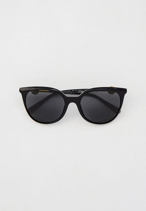 женские круглые солнцезащитные очки versace, черные