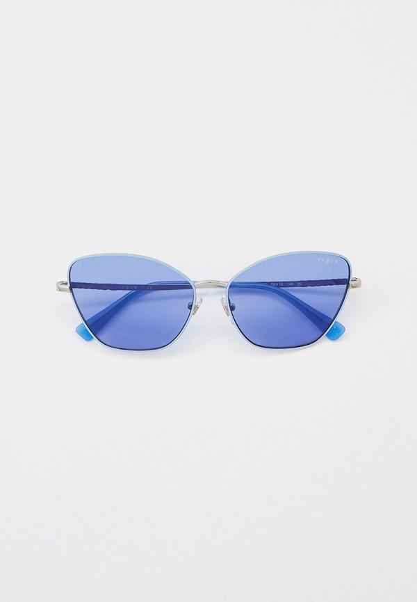 женские солнцезащитные очки кошачьи глаза vogue® eyewear, голубые