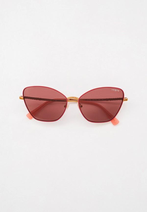 женские солнцезащитные очки кошачьи глаза vogue® eyewear, бордовые