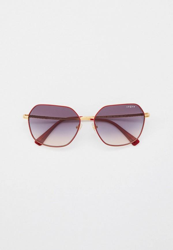 женские квадратные солнцезащитные очки vogue® eyewear, красные