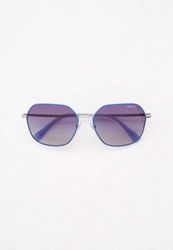 женские квадратные солнцезащитные очки vogue® eyewear, синие