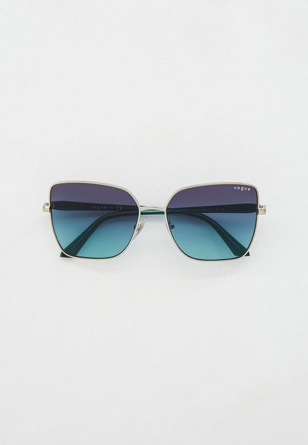 женские квадратные солнцезащитные очки vogue® eyewear, серебряные