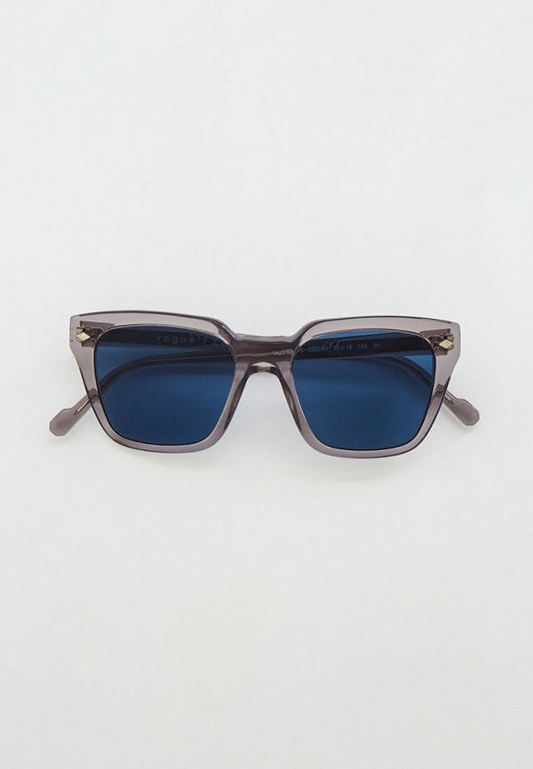 женские квадратные солнцезащитные очки vogue® eyewear, серые