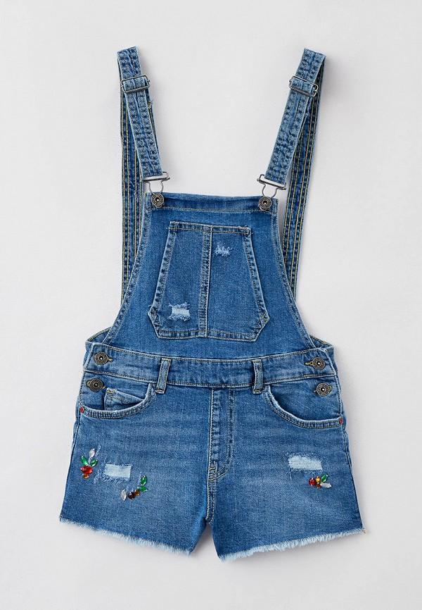 джинсовые комбинезон blukids для девочки, голубой