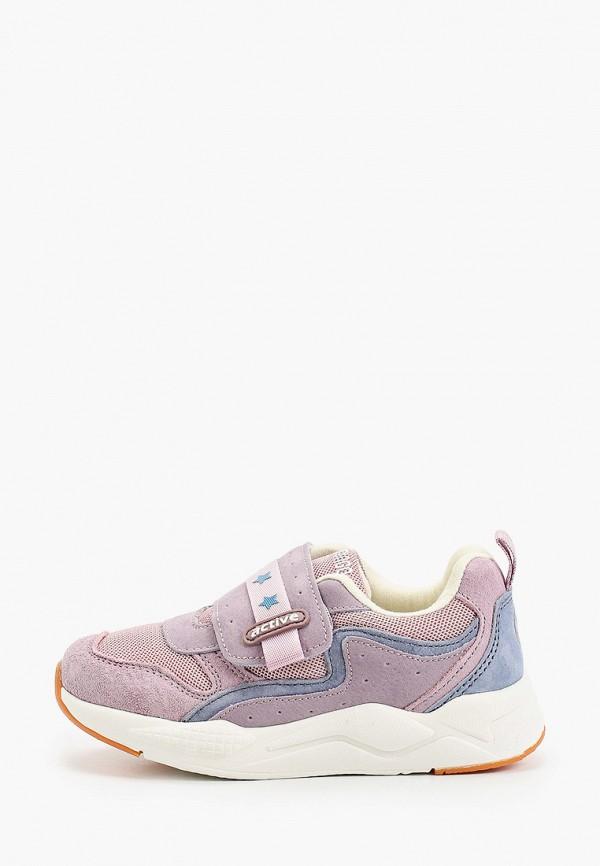 кроссовки flamingo для девочки, фиолетовые