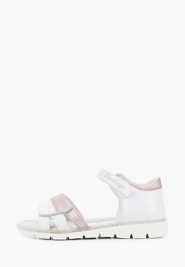 сандалии flamingo для девочки, серебряные