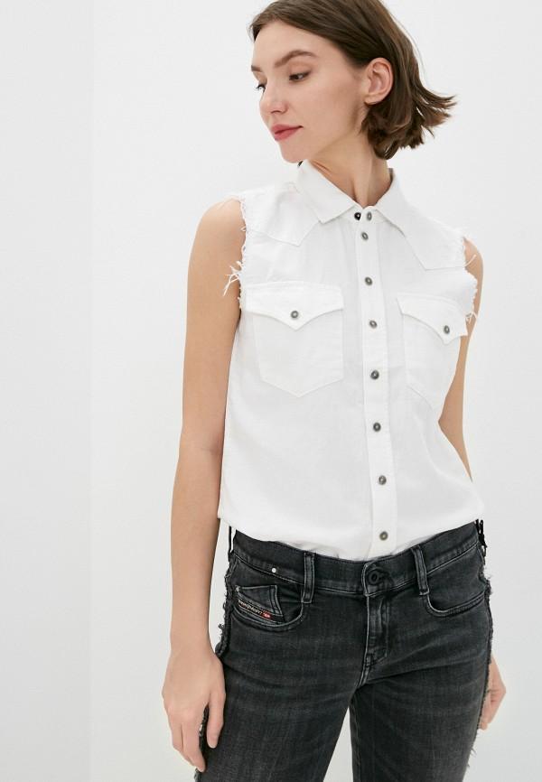 женский джинсовые жилет diesel, белый