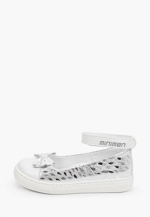 туфли minimen для девочки, серебряные